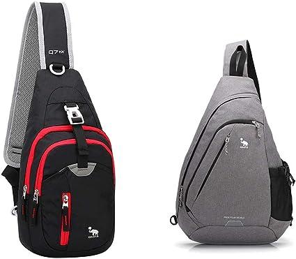OIWAS Small Sling Backpack Lightweight One Strap Bag Hiking Crossbody Chest Pack Shoulder Bookbag Daypack For Men Women