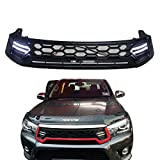 (US) Taishuai Replacement ABS Grille for 15-17 Toyota Hilux Revo LED Front Grille for 2015-2017 Toyota Hilux Revo SR5 M70 M80