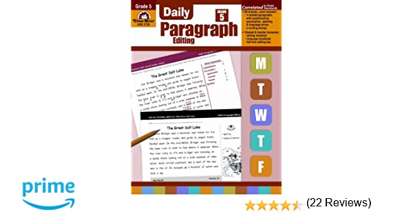 Amazon.com: Daily Paragraph Editing, Grade 5 (9781557999597): Evan ...