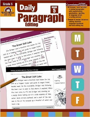 Grade 5 Daily Paragraph Editing
