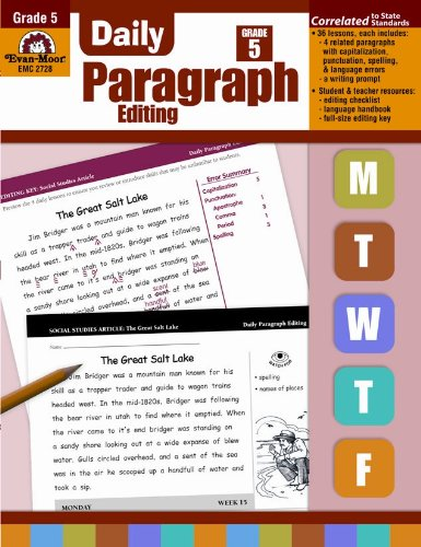 Daily Paragraph Editing, Grade 5 by EVAN-MOOR
