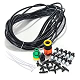 Outdoor Mist Cooling System DIY 10M 10 Nozzles Water Mister Air Misting Cooling System Kit For Patio Garden Greenhouse Trampoline For Waterpark
