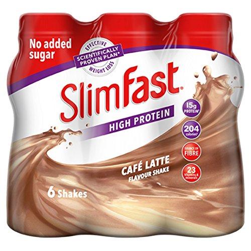 SlimFast Shake Multipack, Caf' Latte, 6 x 325 ml, Packaging May Vary