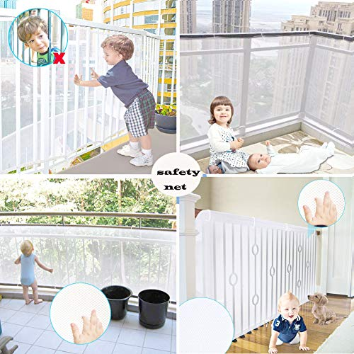 Rain Queen Kids Safety Net, Balcony and Stairway Safety Net for Baby Child Kids Indoor & Outdoor- Child Safety; Pet Safety; Toy Safety by RAIN QUEEN (Image #1)
