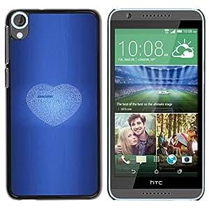 Fútbol Chelsea del fútbol del amor - Metal de aluminio y de plástico duro Caja del teléfono - Negro - HTC Desire 820