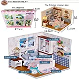 OHQ Friends&Me DollHouse Xmas Little Bathroom For Girls, with Wardrobe Candy Pillow Dress Bed Slippers Gift Box Desk Lamp, Creative Birthday