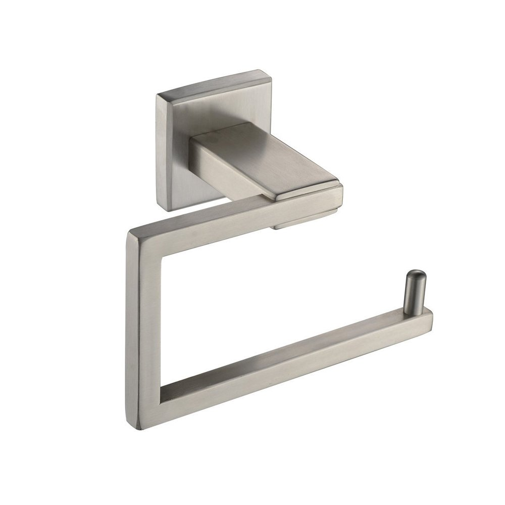 Bathroom Accessories Contemporary Hotel Paper Hanging Wall Mounted, Towel Bar Holder for Bathroom and Kitchen, T-304 Stainless Steel, Brushed Nickle