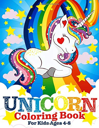 Unicorn Coloring Book Kids Ages product image