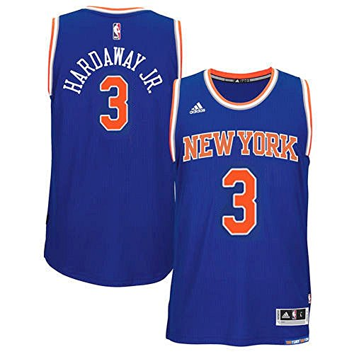 adidas Tim Hardaway Jr. New York Knicks NBA Youth Blue Road Replica Jersey (Youth X-Large 18-20)