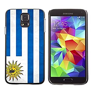 YOYO Slim PC / Aluminium Case Cover Armor Shell Portection //Uruguay Grunge Flag //Samsung Galaxy S5