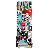 Paper House Productions STDC-0016E New York City Die Cut Stickers, 3-Pack