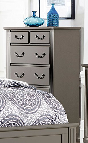 Gervais 5 Drawer Chest in Grey (Louis Phillipe Suite)