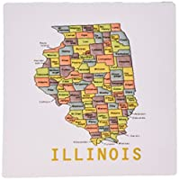 3dRose Color Map of Illinois Counties Mouse Pad (mp_112386_1)