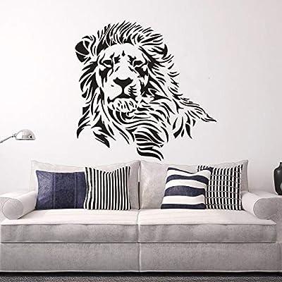 xingbuxin Pegatinas de Pared de Vinilo de Silueta de león Diseño ...