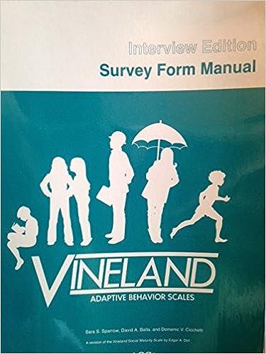 vineland adaptive behavior scales manual