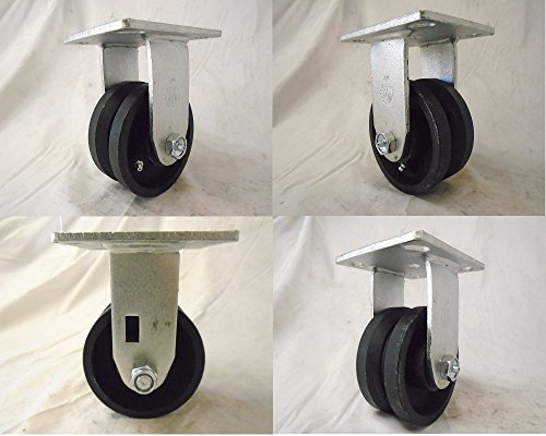 4-x-2-Rigid-Caster-78-V-Groove-Iron-Steel-Wheel-600-lbs-Each-4