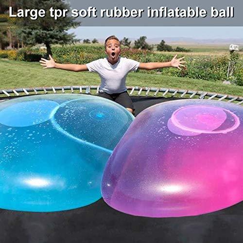 Adealink Inflatable Bubble Ball Water Filled Beach Balls Soft Rubber Ball for Kids Outdoor (Pink)