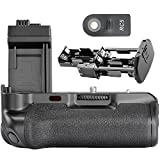 Neewer® Replacement BG-E5 LCD Battery Grip Works with 6 AA batteries or 2 PCS LP-E5 batteries+Ir Remote Controller for Canon Xs Xsi T1I 500D 450D 1000D Digital SLR Cameras