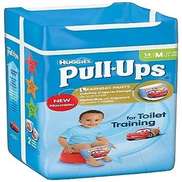 Huggies Pull Ups Potty Training Pants for Boys - Medium (11-18 kg), 14 x 6 Packs (84 Pants) Kimberly-Clark 2818571