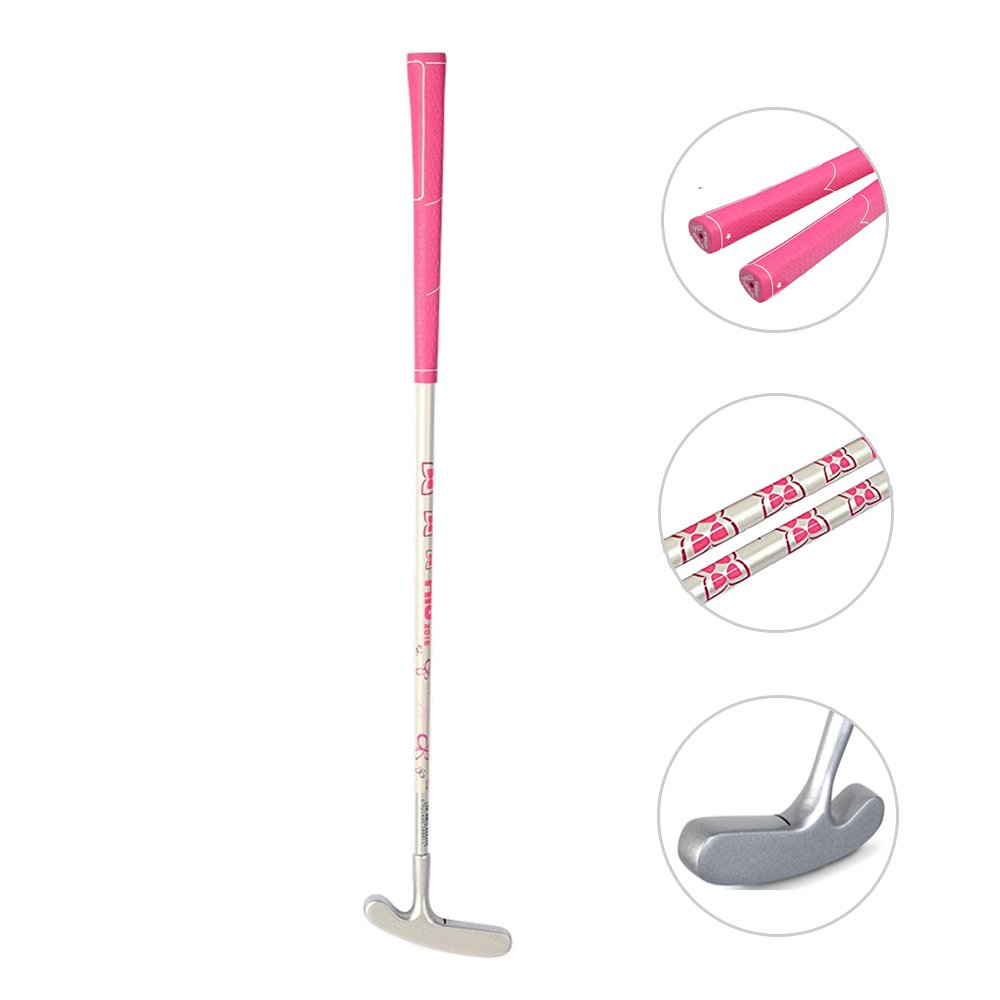 Acstar Two Way Junior Golf Putter Kids Putter Both Left and Right Handed Easily Use 3 Sizes for Ages 3-5 6-8 9-12(Silver Head+Pink Grip,29 inch,Age 9-12) by Acstar