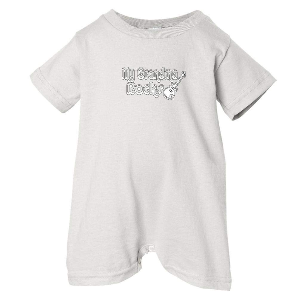 White, 24 Months Unisex Baby My Grandma Rocks T-Shirt Romper So Relative