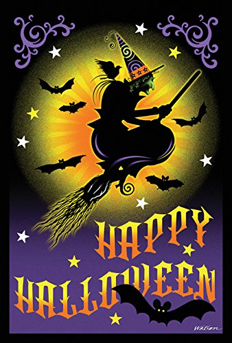 Toland Home Garden Flight Of The Witch 12.5 x 18 Inch Decora