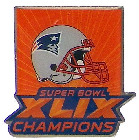 New England Patriots Super Bowl XLIX (49) Champions Pin (New England Super Bowl 49 Pin)