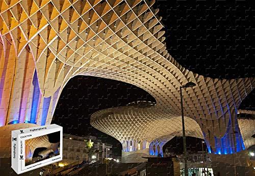 PigBangbang,20.6 X 15.1 Inch,Premium Basswood - Metropol Parasol Sevilla Spain Best Hotels Tourism Travel - 500 Piece Jigsaw Puzzle