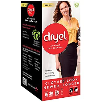 4x Dryel At-Home Dry Cleaner Refill 1 ea