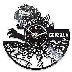 Handmade Godzilla Record Clock 12 inch Godzilla Clock Godzilla Vinyl Record Wall Clock Godzilla Gift Wall Clock Modern Gift for Man Clock Godzilla Birthday Gift Vinyl Wall Clock Godzilla Gift