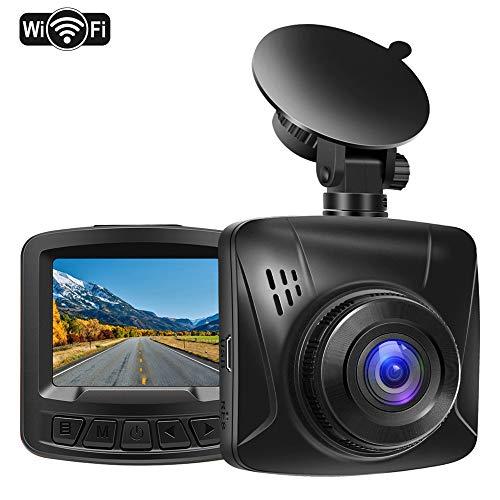 Pathinglek Dash Cam 1080P Full HD WiFi Dash Camera for Cars Mini Dashboard Camera 2 inches LCD, Night Vision, G-Sensor, 170°Wide Angle, Motion Detection