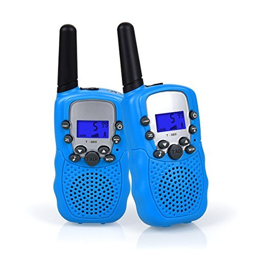 Upgrow Kids Walkie Talkies 22 Channel 0.5W FRS/GMRS Two Way Radios Long Range Handheld Walkie Talky with LED Flashlight for Children (Blue) - Kid Walkie Talkie