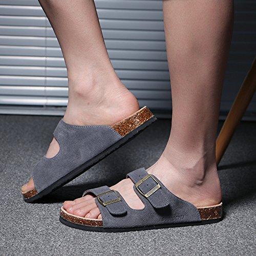 numeri coppie femmina pantofole estate fankou grigio grandi anti Uomini tide di ciabatte 46 cool pantofole skid w1YayxSaUq