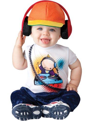 InCharacter Baby Boy's Beats DJ Costume, White/Orange, Large