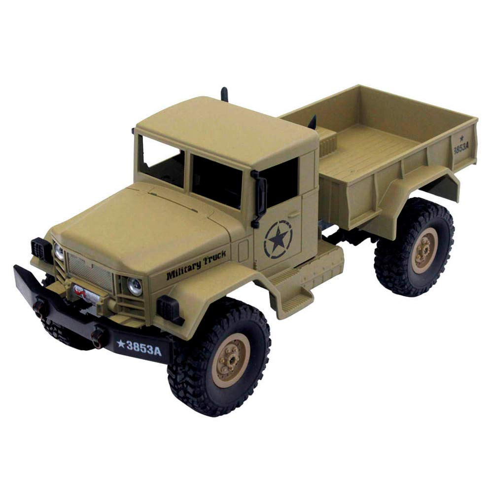 Choosebuy 1:16 Military Off-Road Remote Control Truck, Cool 6WD Powerful Engine Bright Spotlights RC Tracked Cars Toys with 2.4GHz Technology for Indoors/Outdoors (Desert Yellow) by Choosebuy (Image #1)