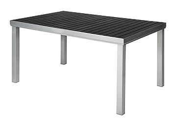 Amazon De Aluminium Polywood Gartentisch 180x100 Von Doppler Silber