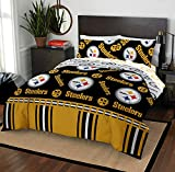 The Northwest Company NFL Pittsburgh Steelers Full Bed in a Bag Complete Bedding Set #273249838