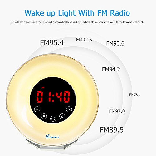 Vansky Sunrise Wake Up Light Deluxe Edition Digital Alarm