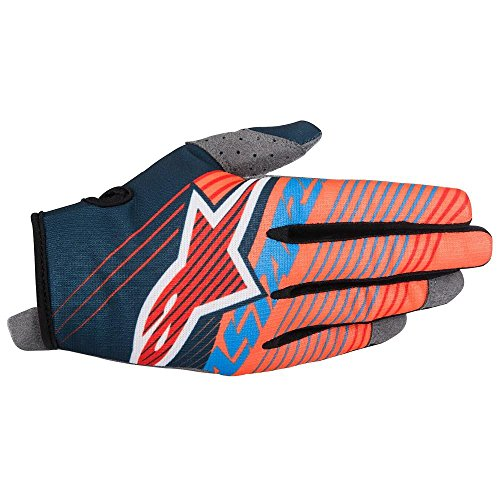 Dirtpaw Youth Gloves (Alpinestars Unisex-Child Youth Radar Tracker Gloves (Petrol/Aqua/Orange, Medium))