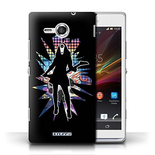 Etui / Coque pour Sony Xperia SP/C5303 / Rock Dame Noir conception / Collection de Rock Star Pose