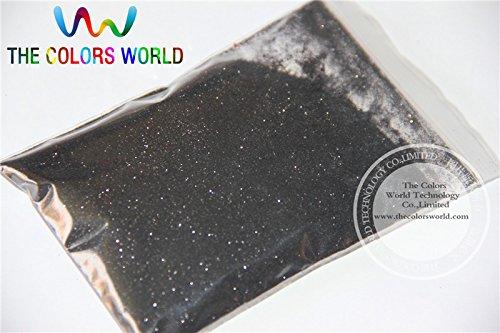 Kamas B1000 Black Color Glitter powder -0.2MM glitter dust dazzling glitter powder,DIY Flash powder - (Color: 200g)