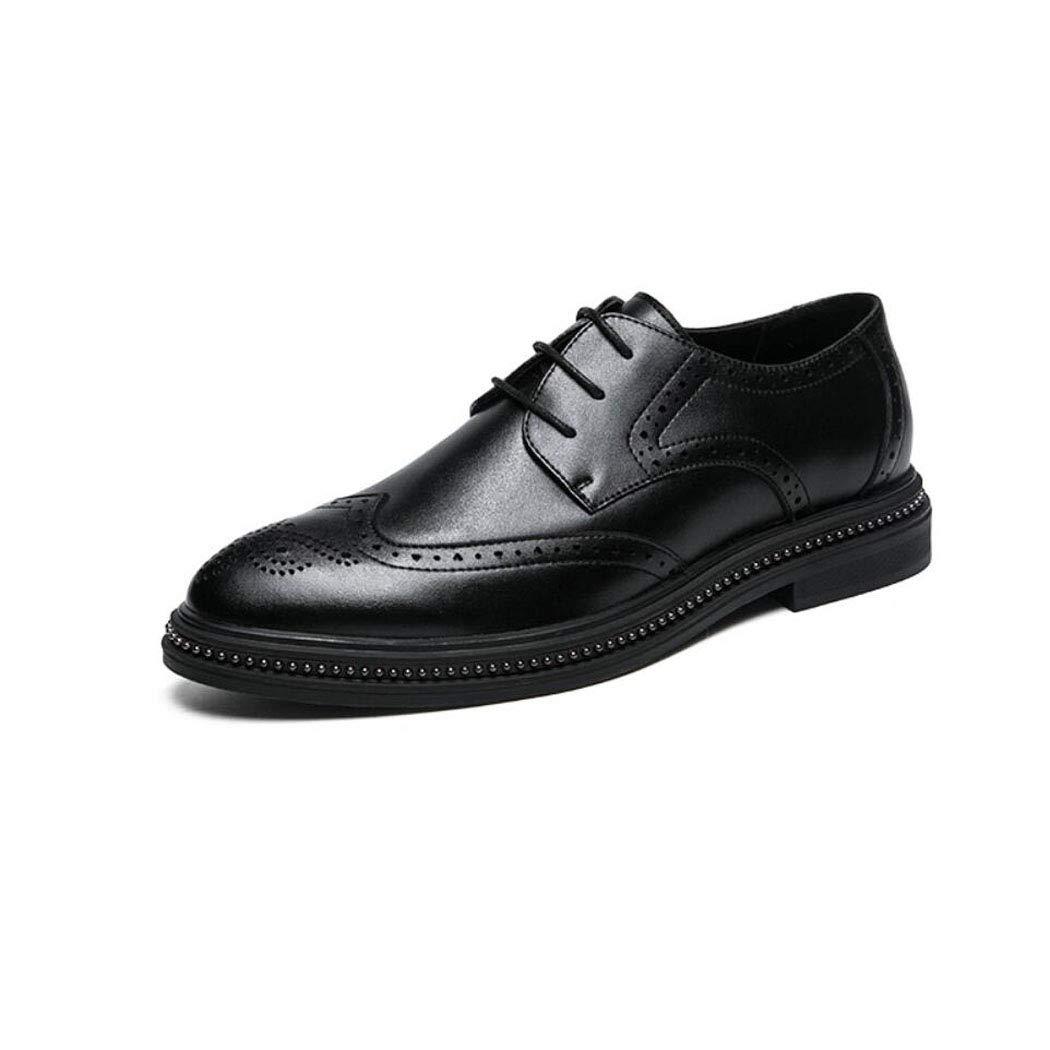 Svarta ZIXUAP Mans Läther Dress Dress Dress skor Slip on Plain Toe Loafer skor Man Formal Classic Comfortable Business skor  fabriksförsäljning
