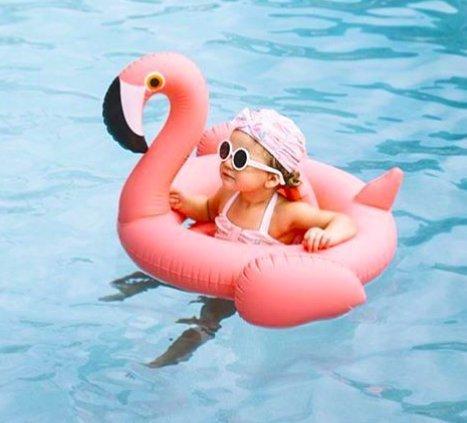 Oima Baby Flamingo Inflatable Pool Float – Inflatable Baby Infant Flamingo Swim Ring Pool Float – Popular Baby Infant Swimming Toy – Learn Swimming For Baby Infants