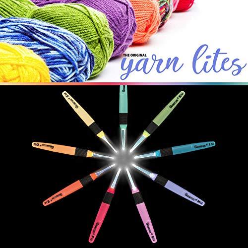 Light Up Crochet Hook Set - The Original Crochet Hook Lights, Set of 9 Hooks by Yarn Lites (Image #7)