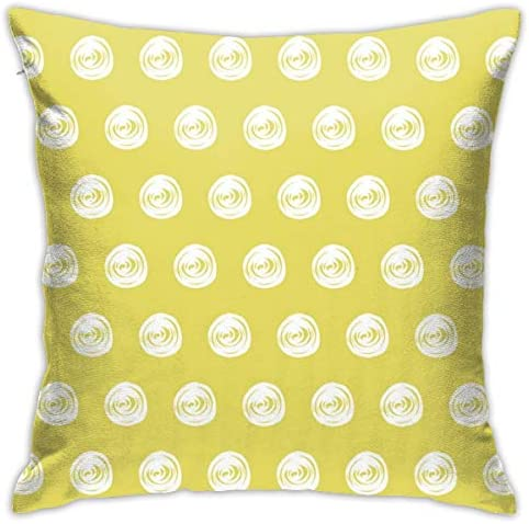 金色の背景にマーカードットシームレスパターン小説と興味深い家の装飾的な枕カバークッションカバーソファカバー