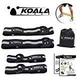 Koala Bands | Flexible premium bands comfortable for blood flow restriction training | BUNDLE PACK OF 4 ( 2 bicep bands ) ( 2 leg bands ) | Comes with portable bag