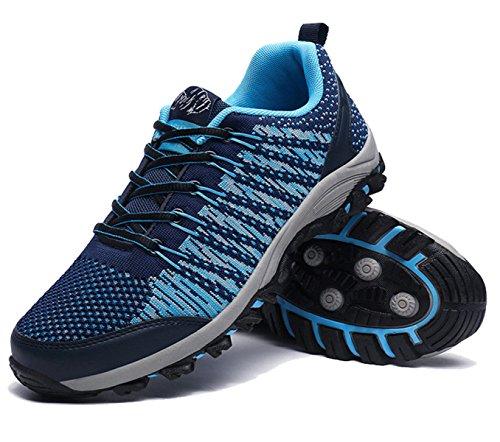 Ayuda Baja Transpirable Al Aire Libre Zapatos De Escalada Acampar Multicolor De Varios Tamaños Blue