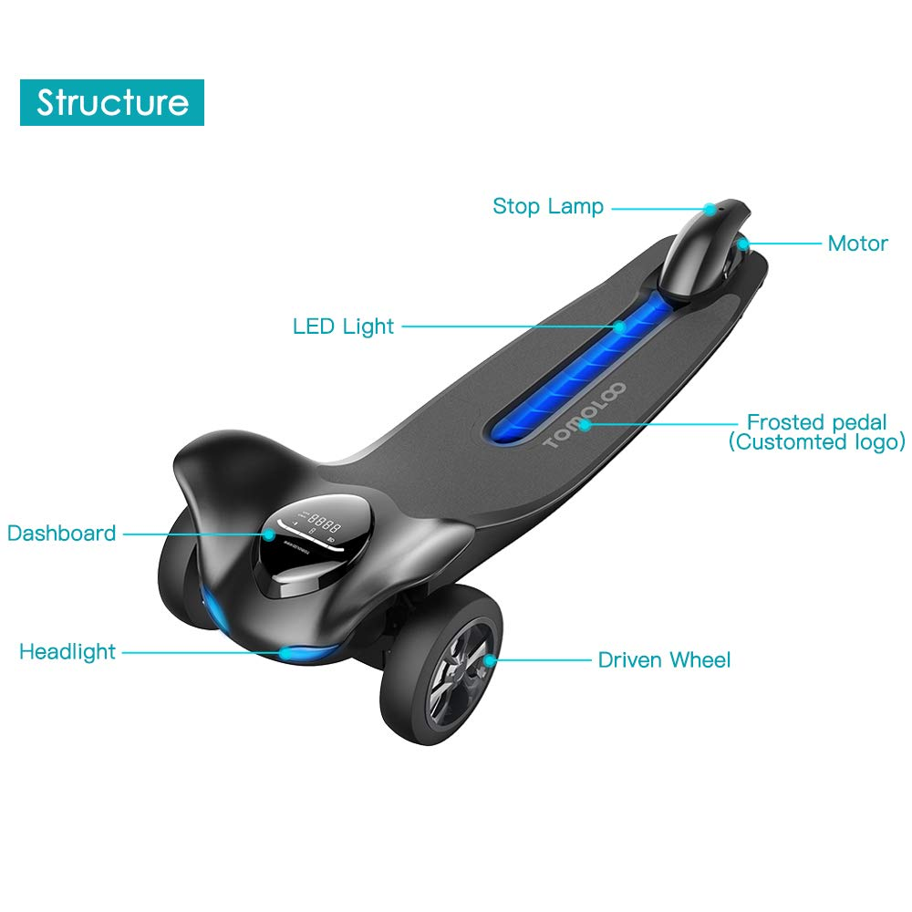 TOMOLOO Hoverboard con Altavoz Bluetooth LED Luces ...