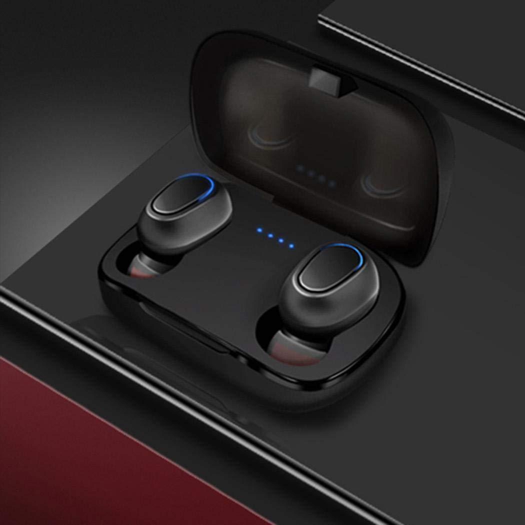 pairris Auricolare in-Ear Impermeabile Stereo Senza Fili biauricolare Bluetooth con Custodia di Ricarica Cuffie