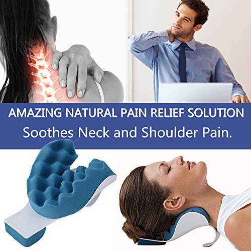 Cervical Pillow Neck and Shoulder Pain Relief Massage Traction Device Support Relaxer by KASQA (Image #2)